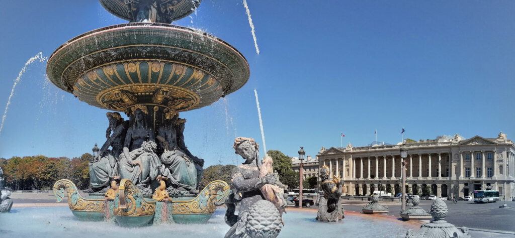 Fontanna na Place de la Concorde