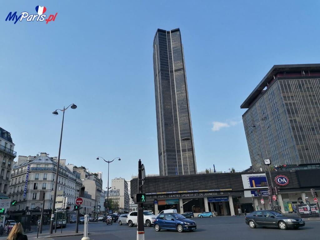 Wieża Montparnasse góruję nad okolicą